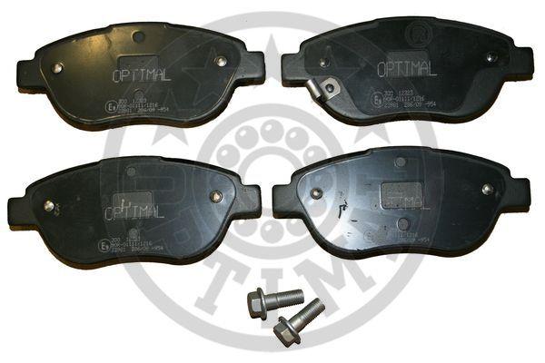 Kit de plaquettes de frein, frein à disque - OPTIMAL - 12323