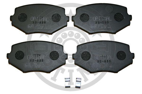 Kit de plaquettes de frein, frein à disque - OPTIMAL - 12326