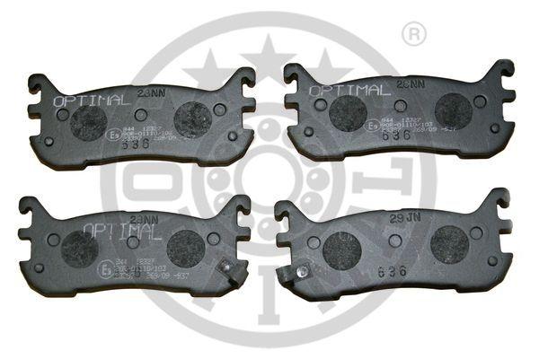 Kit de plaquettes de frein, frein à disque - OPTIMAL - 12327