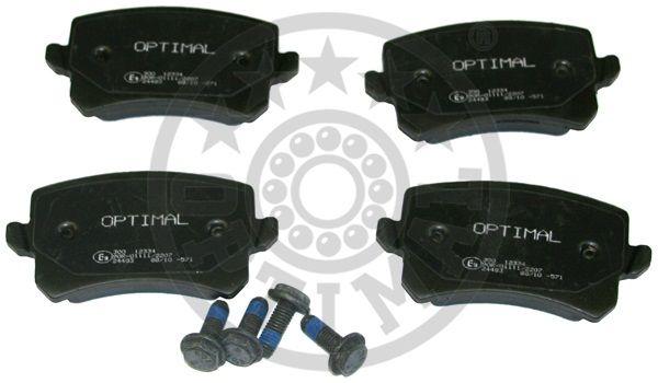 Kit de plaquettes de frein, frein à disque - OPTIMAL - 12334