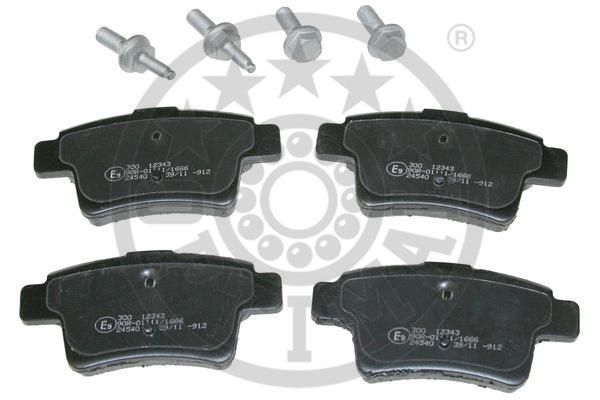 Kit de plaquettes de frein, frein à disque - OPTIMAL - 12343