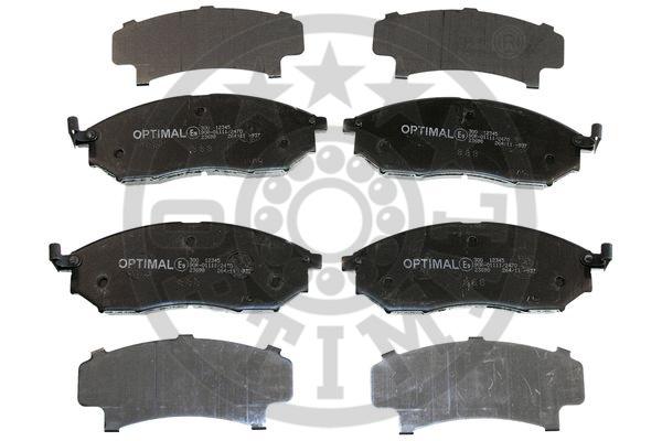 Kit de plaquettes de frein, frein à disque - OPTIMAL - 12345