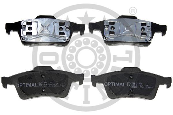 Kit de plaquettes de frein, frein à disque - OPTIMAL - 12351