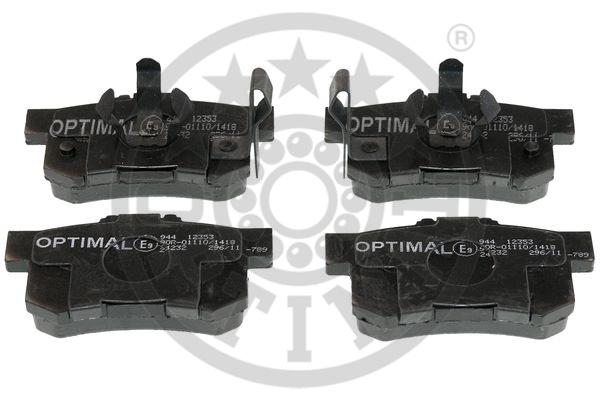 Kit de plaquettes de frein, frein à disque - OPTIMAL - 12353
