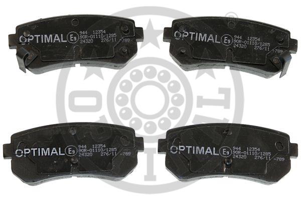 Kit de plaquettes de frein, frein à disque - OPTIMAL - 12354