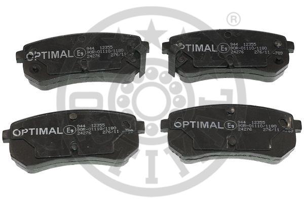 Kit de plaquettes de frein, frein à disque - OPTIMAL - 12355