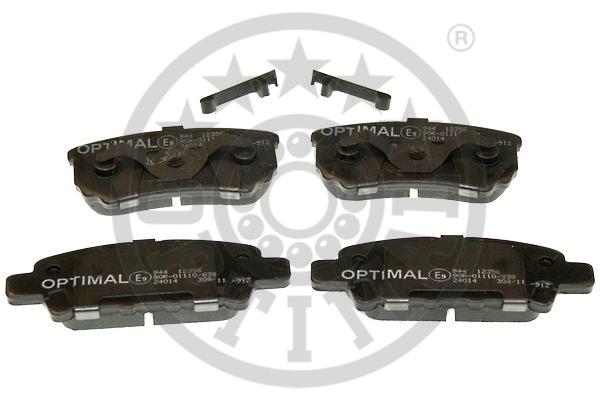 Kit de plaquettes de frein, frein à disque - OPTIMAL - 12356