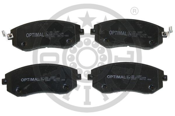 Kit de plaquettes de frein, frein à disque - OPTIMAL - 12357