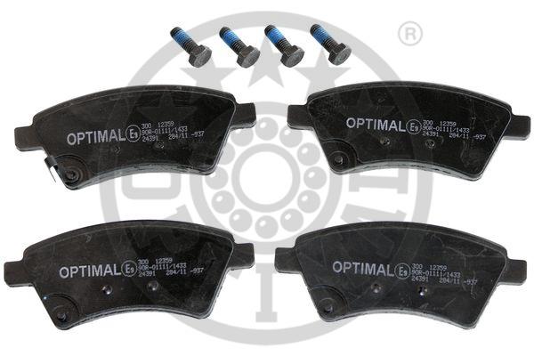 Kit de plaquettes de frein, frein à disque - OPTIMAL - 12359