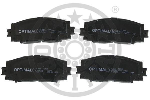 Kit de plaquettes de frein, frein à disque - OPTIMAL - 12360
