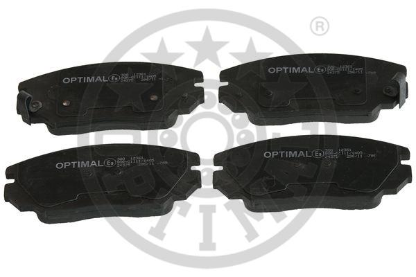 Kit de plaquettes de frein, frein à disque - OPTIMAL - 12361