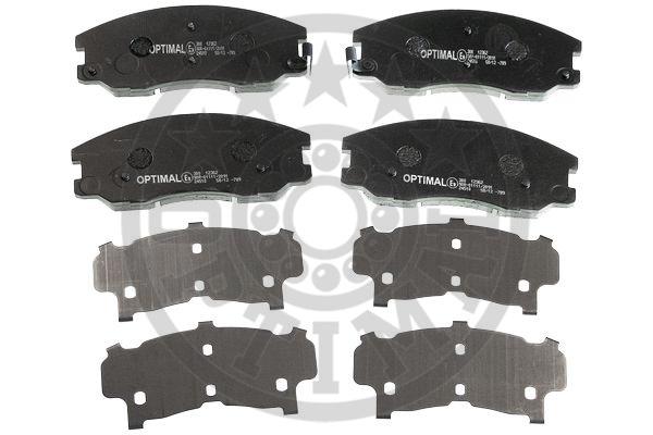 Kit de plaquettes de frein, frein à disque - OPTIMAL - 12362
