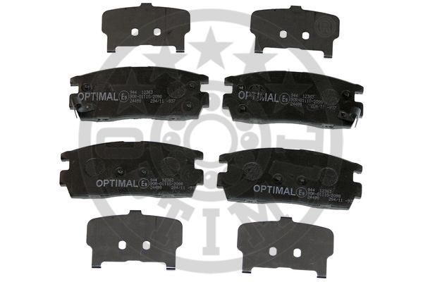 Kit de plaquettes de frein, frein à disque - OPTIMAL - 12363