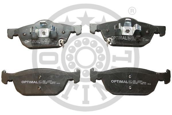 Kit de plaquettes de frein, frein à disque - OPTIMAL - 12366