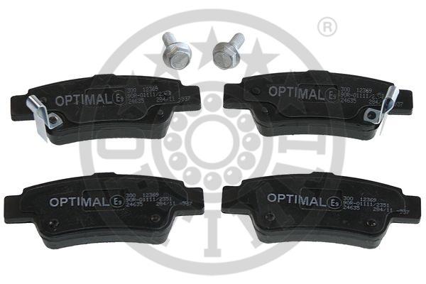 Kit de plaquettes de frein, frein à disque - OPTIMAL - 12369