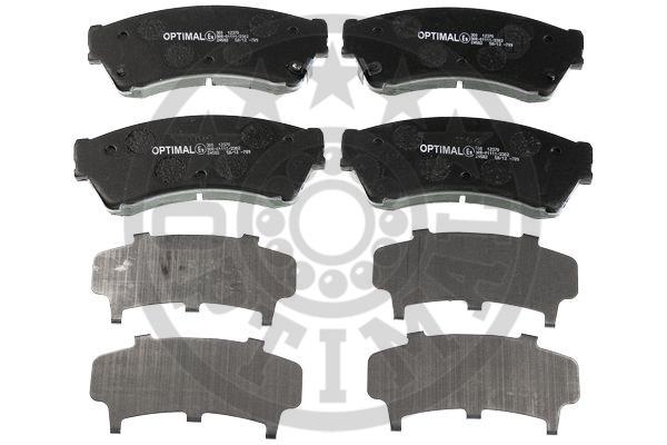 Kit de plaquettes de frein, frein à disque - OPTIMAL - 12370