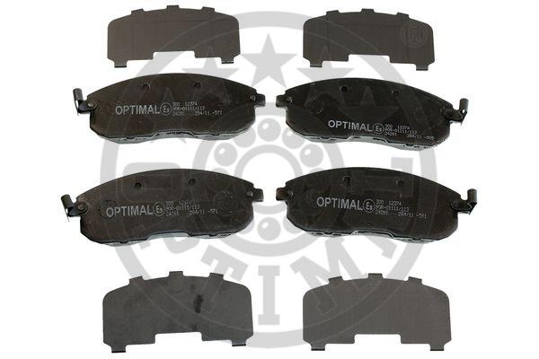 Kit de plaquettes de frein, frein à disque - OPTIMAL - 12374