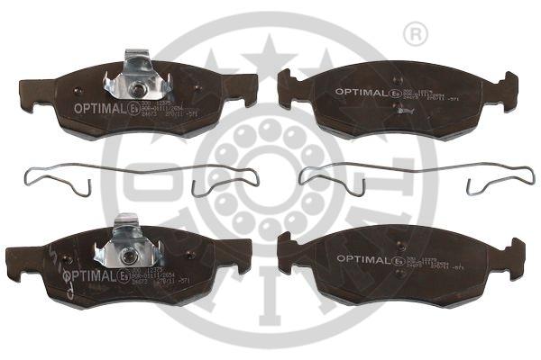 Kit de plaquettes de frein, frein à disque - OPTIMAL - 12375