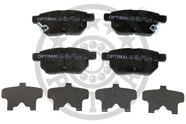 Kit de plaquettes de frein, frein à disque - OPTIMAL - 12377