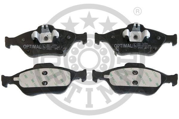 Kit de plaquettes de frein, frein à disque - OPTIMAL - 12378