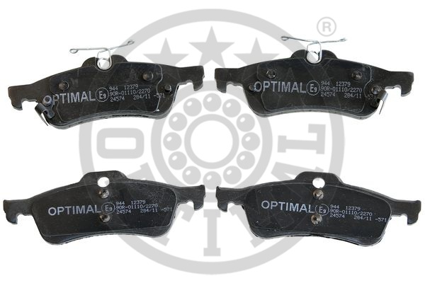 Kit de plaquettes de frein, frein à disque - OPTIMAL - 12379