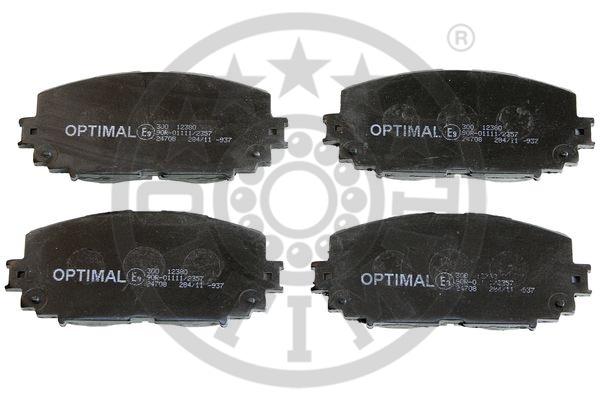 Kit de plaquettes de frein, frein à disque - OPTIMAL - 12380