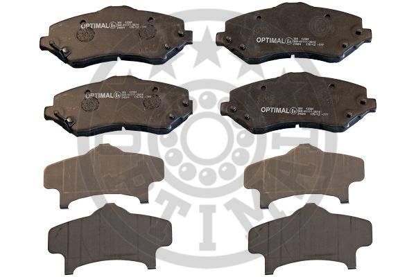 Kit de plaquettes de frein, frein à disque - OPTIMAL - 12381