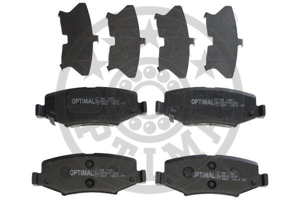 Kit de plaquettes de frein, frein à disque - OPTIMAL - 12382