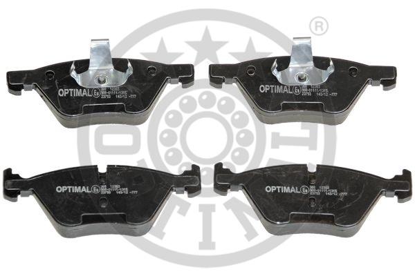 Kit de plaquettes de frein, frein à disque - OPTIMAL - 12383