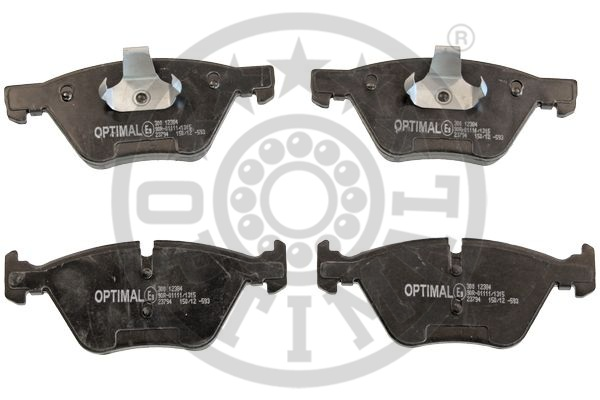 Kit de plaquettes de frein, frein à disque - OPTIMAL - 12384