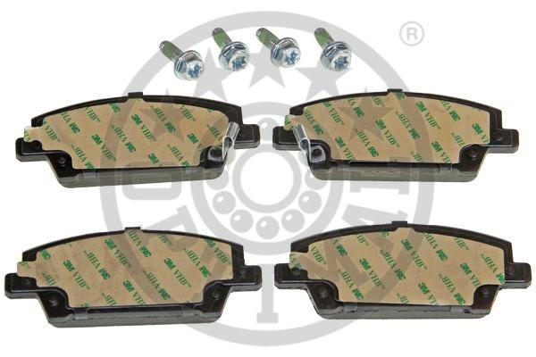 Kit de plaquettes de frein, frein à disque - OPTIMAL - 12386