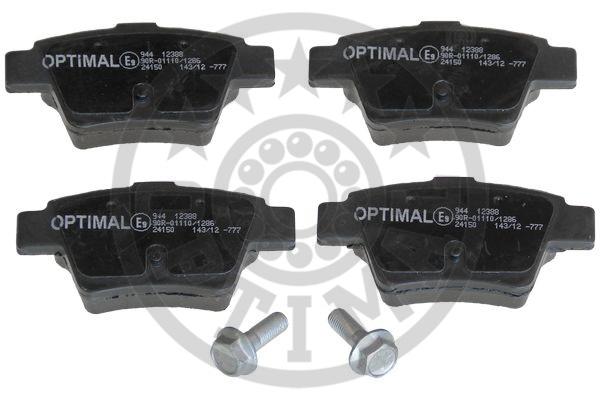 Kit de plaquettes de frein, frein à disque - OPTIMAL - 12388