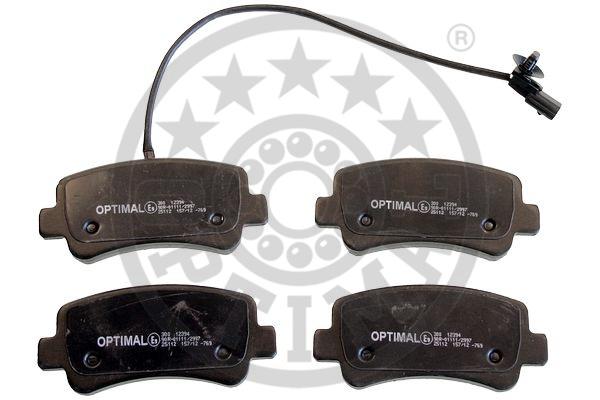 Kit de plaquettes de frein, frein à disque - OPTIMAL - 12394