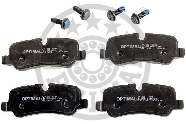 Kit de plaquettes de frein, frein à disque - OPTIMAL - 12396