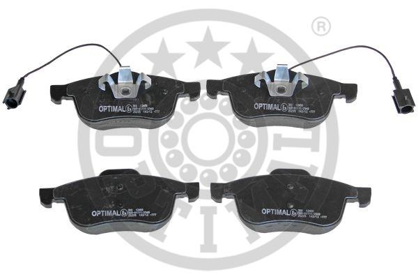Kit de plaquettes de frein, frein à disque - OPTIMAL - 12400