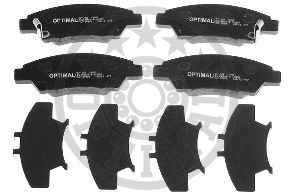 Kit de plaquettes de frein, frein à disque - OPTIMAL - 12405