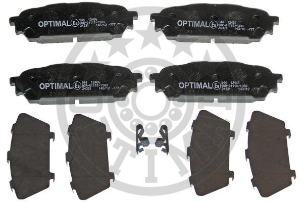 Kit de plaquettes de frein, frein à disque - OPTIMAL - 12406