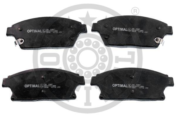 Kit de plaquettes de frein, frein à disque - OPTIMAL - 12407