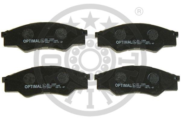 Kit de plaquettes de frein, frein à disque - OPTIMAL - 12408