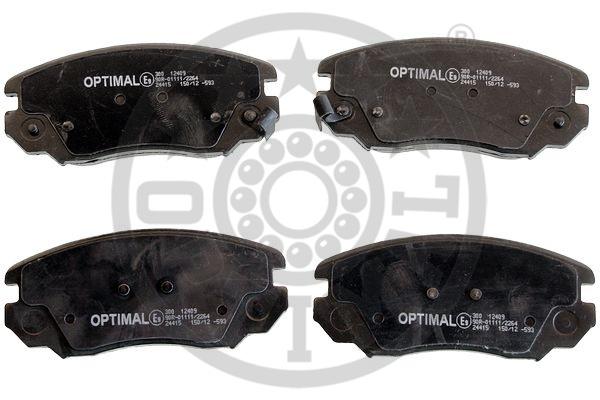 Kit de plaquettes de frein, frein à disque - OPTIMAL - 12409