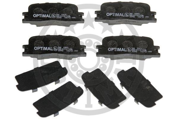 Kit de plaquettes de frein, frein à disque - OPTIMAL - 12412