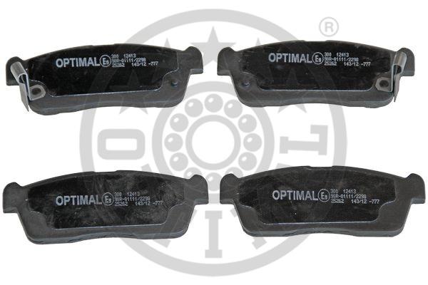 Kit de plaquettes de frein, frein à disque - OPTIMAL - 12413