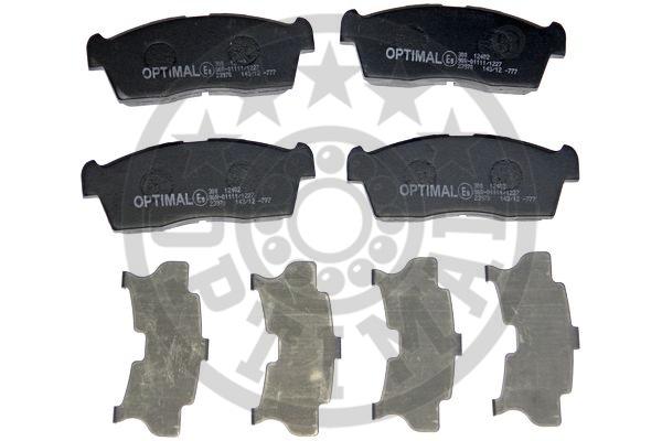 Kit de plaquettes de frein, frein à disque - OPTIMAL - 12415