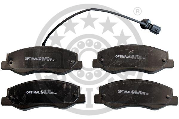 Kit de plaquettes de frein, frein à disque - OPTIMAL - 12417