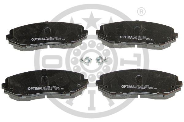 Kit de plaquettes de frein, frein à disque - OPTIMAL - 12422