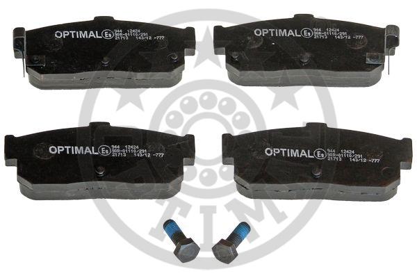 Kit de plaquettes de frein, frein à disque - OPTIMAL - 12424