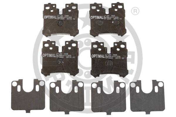 Kit de plaquettes de frein, frein à disque - OPTIMAL - 12426