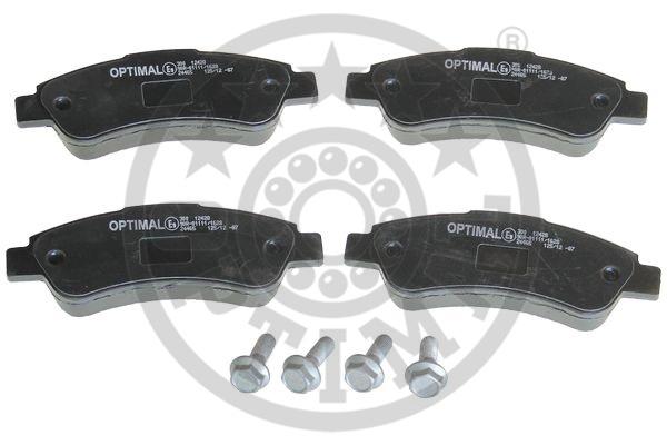 Kit de plaquettes de frein, frein à disque - OPTIMAL - 12428