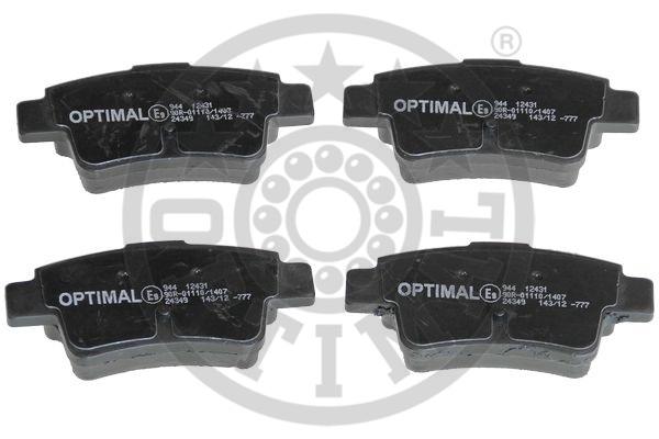 Kit de plaquettes de frein, frein à disque - OPTIMAL - 12431