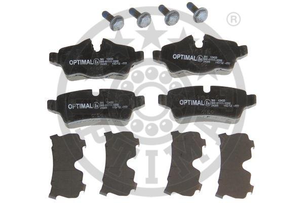 Kit de plaquettes de frein, frein à disque - OPTIMAL - 12433